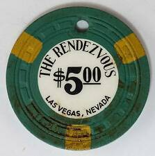 1954 Rendezvous $5 1st Edition Casino Chip Las Vegas, NV