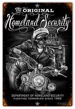 Department Of Homeland Security Garage Shop Art Sign 12×18