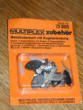 vintage MULTIPLEX 733025 metallruderhorn kugelanlenkung crochet GUIGNOLS Rudder