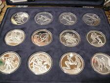 GRIEKENLAND CASSETTE MET 12 x 10 EUROMUNT ZILVER OLYMPISCHE SPELEN