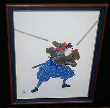 """1980s JAPANESE FRAMED PRINT 252/300 """"SAMURAI"""" by HISASHI OTSUKA"""