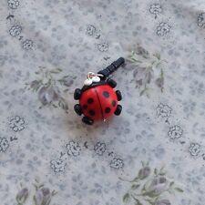 dust plug Ladybird Handmade Phone Charm Cute