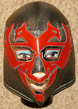Red Adult Cloth Helmet Costume Mask w Laced Back