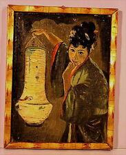 Altes Ölgemälde Japanerin  von 1902 Gera