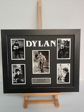 UNIQUE PROFESSIONALLY FRAMED, SIGNED BOB DYLAN PHOTO COLLAGE WITH PLAQUE.