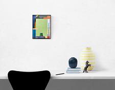 MUTE AND SPLASH Small Colorful Abstract Collage Art - Steven Tannenbaum Original