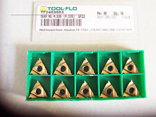 New 10 Pcs - 16NR NG W.035 Grade GP22 Coated Grooving Inserts Tool-Flo