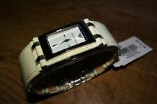 Emporio Armani AR5525 Womens Stainless Steel/White Leather 50M Watch