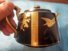 Teapot- GIBSONS ENGLAND -702601-BLACK AND GOLD