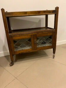 Antique drinks cabinet on wheels