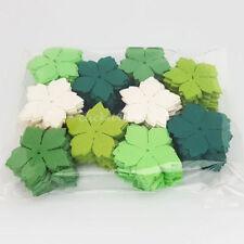 Green Paper Scrapbooking Flower Embellishments