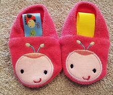 ADORABLE! TAGGIES 3 MONTH PINK LADYBUG SLIPPERS ADORABLE REBORN