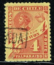 "CHILE 1895 OFFICIAL POSTAGE DUE STAMP # 21 USED MULTAS ""LEBLANC"""