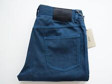 $850 NEW BRIONI Rare Dark Teal Blue Color Cotton Silk Blend Jeans 36 US 52 Euro