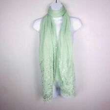 2 Chic Women Scarf Big Over Size Green Metallic Shawl Soft Wrap Beach Cover MN63