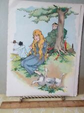 Vintage Print,GOOSEGIRL,Famous Fairy Tale,1928