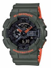 Crazy Deal New G-Shock GA110LN-3A Army Green-Orange Layere Analog-Digi Watch