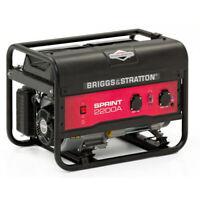 Briggs and Stratton Sprint 2200 Petrol Framed Generator 2125w 196cc Heavy Duty