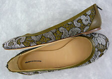 NEW J. CREW COLLECTION LACET BALLET FLATS METALLIC GRAPHITE Sz 7 Rtl $325 ITALY