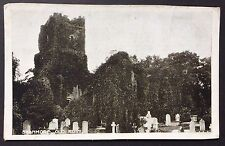 STANMORE OLD RUIN Church POSTCARD Info Card MIDDLESEX London 223