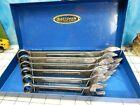 vintage CRAFTSMAN CI Combination wrench set 6pc. blue metal tool box socket USA