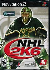 NHL 2K6 PlayStation 2 Sony PS2 2005 Hockey Sports Video Game 710425278037