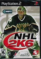 New NHL 2K6 Sony PlayStation 2 PS2 2005 Hockey Sports Video Game 710425278037