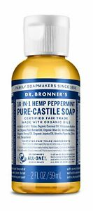 Dr. Bronner's Peppermint Pure-Castile Liquid Soap Original 18-in-1 Uses 2oz