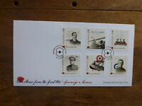GUERNSEY 2017 STORIES- THE GREAT WAR SET 6 STAMPS FDC FIRST DAY COVER