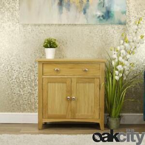 Oakland Modern Oak Sideboard   Small 2 Door 1 Drawer Cabinet   Light Wood Tone