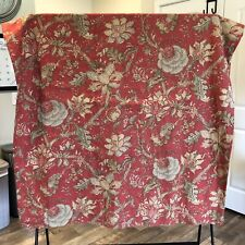 Pottery Barn Palampore Jacobean Floral Curtain Panel 50x96 Linen Blend Red Green