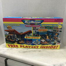 Micro Machines Hiways & Byways Car Wash & M-T Gas Station 2 For 1 New Box