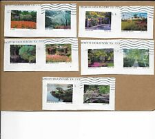 NEW 2020 AMERICAN GARDENS SET OF TEN STAMPS USED ON PAPER