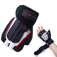 Bike Half Finger Cycling Gloves Gym Workout Wrist Wrap Outdoor Sports Racing ATV