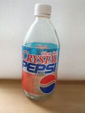 CRYSTAL PEPSI Clear Cola from the 90's empty bottle USA perfect condition