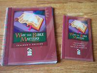 Bob Jones Why The Bible Matters Student Text and Teachers Guide
