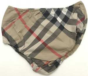 Burberry Baby Girls Diaper Cover Nova Check Beige Diagonal Size 18M