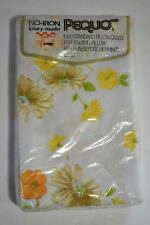 Vtg New Pequot Standard Pillowcases Luxury Muslin Floral Yellow Mountain Mist