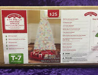 Holiday Time White 4' Pre-Lit Indiana Spruce Tree Multi Color Lights Christmas