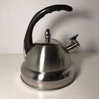 MDC Housewares Mid Century Modern Stainless Steel Whistle Tea Kettle 3.5 Qt-NEW