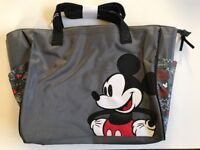 Diaper Bag Tote Large Disney Mickey Mouse Gray Black NWT