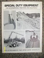 Original Vintage IH Special Duty Equipment for Tractors Trnchers Diggers book