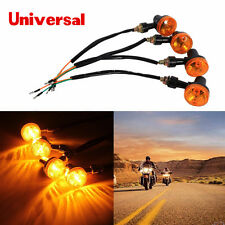 4x 12V motorcycle amber round turn signal direction indicator light bulb 9W