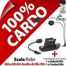 Cardo Scala Rider Audio y micrófono Kit De Accesorios G9x G9 G4 Casco De Motocicleta Intercomunicador
