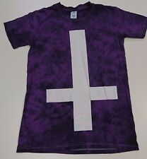 Purple tie-dye, Inverted cross T-Shirt/ size S  - 812