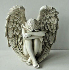 Divine  Resin  Cherub ~ Lady  Angel Statues Ornament  Figurine With Large Wings