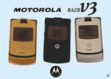 CELLULARE MOTOROLA -RAZR V3-NUOVO  NERO CON ACCESSORI leggere
