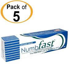 5 Tubes NUMB FAST® Numbing Painless Cream Tattoo Piercing Waxing Laser Dr