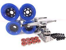 """Gullwing Sidewinder II 10"""" Longboard Trucks + Blank 83mm Blue Wheels"""