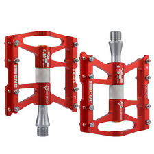 RockBros MTB Road Bike Cycling Aluminum Alloy 4 Sealed Bearings Pedals Red